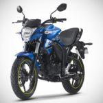 2017 Suzuki Gixxer Metallic Triton Blue front left