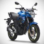 2017 Suzuki Gixxer Metallic Triton Blue front right
