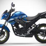 2017 Suzuki Gixxer Metallic Triton Blue left side