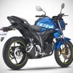 2017 Suzuki Gixxer Metallic Triton Blue rear left