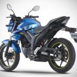 2017 Suzuki Gixxer Metallic Triton Blue rear right