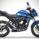 2017 Suzuki Gixxer Metallic Triton Blue right side