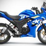 2017 Suzuki Gixxer SF Metallic Triton Blue right side