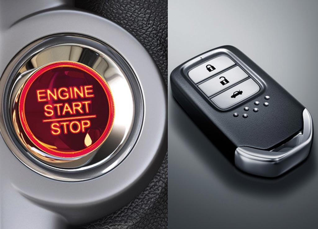 Honda City 2017 Engine Start Stop and Honda Smart Key System