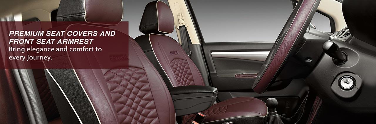 Maruti Suzuki Ertiga Limited Edition 2017 Seat Covers and Armrest