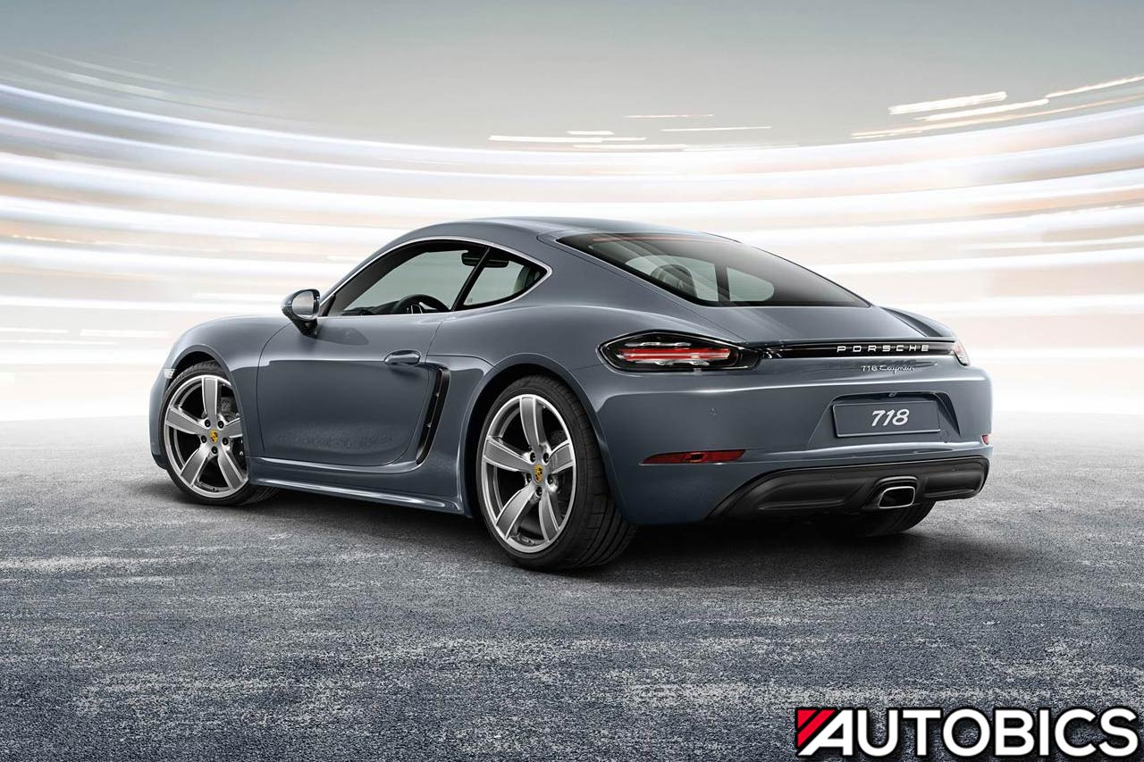 porsche 718 cayman 2017 rear left autobics. Black Bedroom Furniture Sets. Home Design Ideas