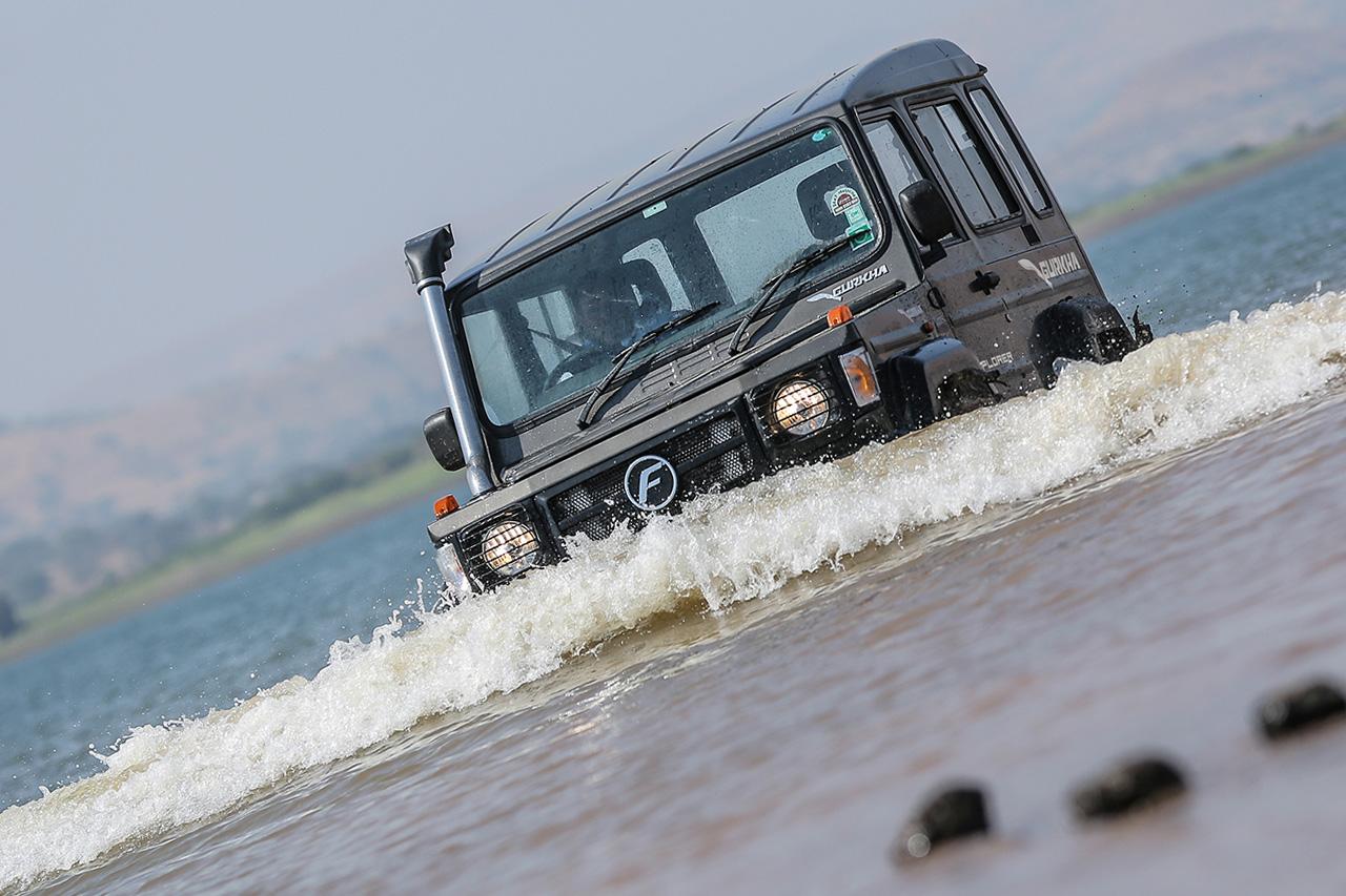 2017 Force Gurkha Xplorer water crossing