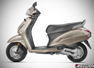 2017 Honda Activa 4G Matte Selene Silver Metallic