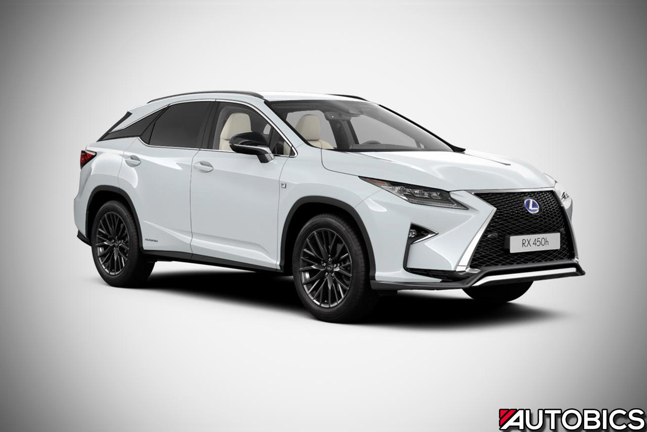 2017 Lexus Rx 450h F Sport Front Right Quarter