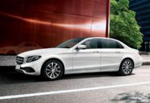 2017 Mercedes-Benz E-class LWB India top rear view