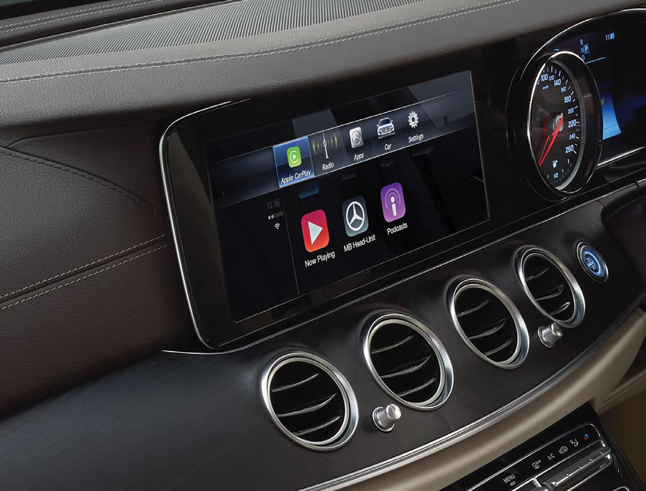 2017 mercedes benz e class lwb india apple carplay autobics for Mercedes benz apple carplay