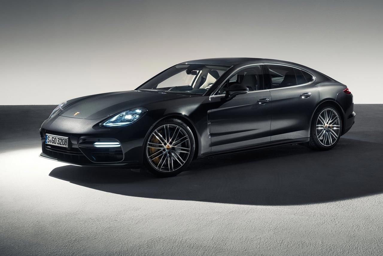 2017 Porsche Panamera Turbo Front Quarter Studio
