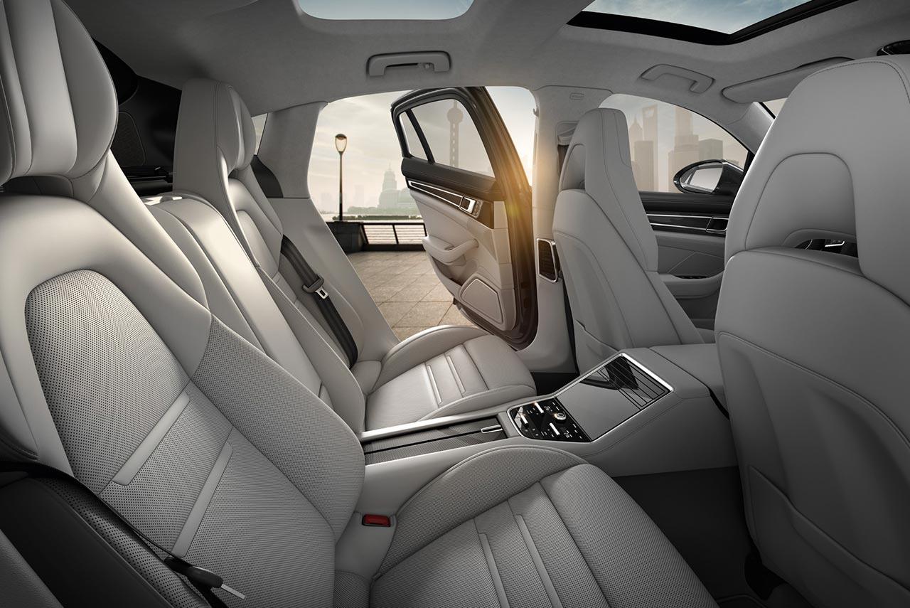 2017 Porsche Panamera Turbo Interior Rear Seats Door Open