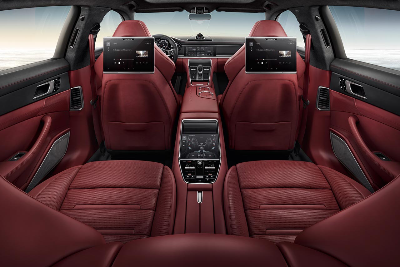 2017 Porsche Panamera Turbo Red Interior Autobics