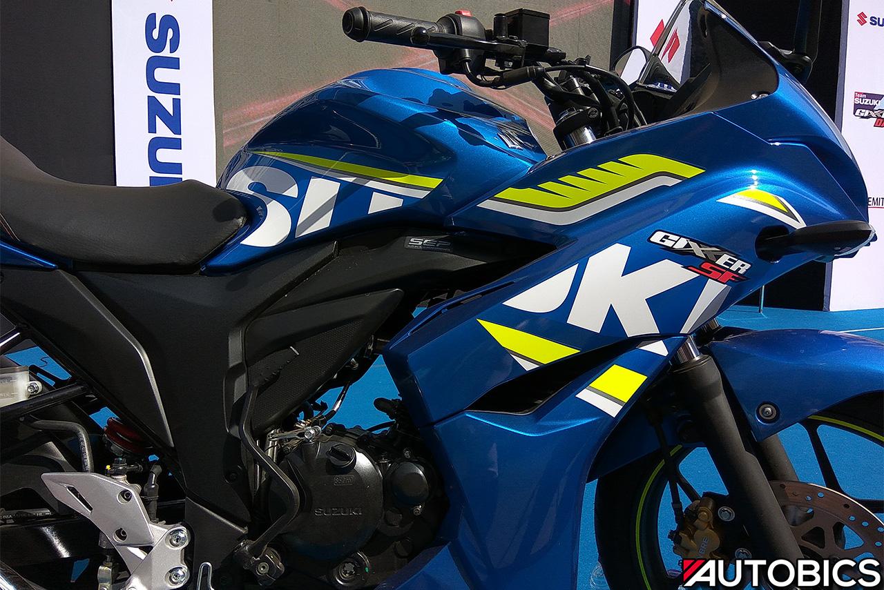 2017 Suzuki Gixxer Sf Fi Metallic Triton Blue Graphics Autobics