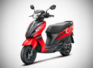 2017 Suzuki Lets Pearl Mira Red - Matte Black