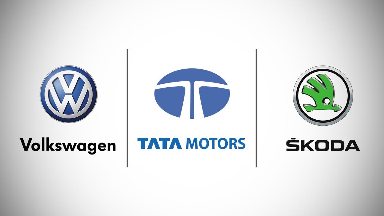 Tata Volkswagen and Skoda Logos