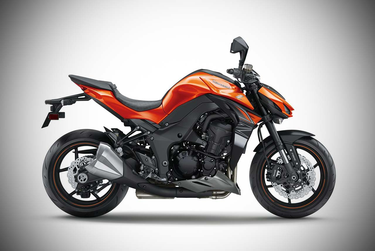 2017 Kawasaki Z1000 Candy Burnt Orange With Flat Ebony Right