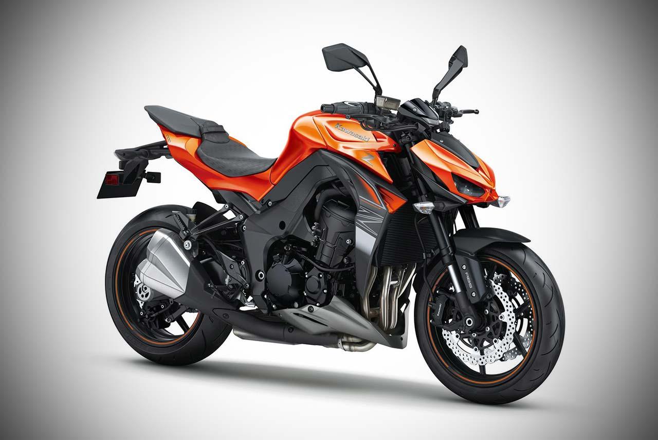 2017 Kawasaki Z1000 Candy Burnt Orange With Flat Ebony