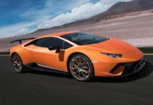 Lamborghini Huracan Performante Arancio Anthaeus front right quarter view