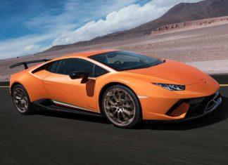 Lamborghini Huracan Performante Arancio Anthaeus front right quarter view