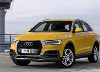 New Audi Q3 front left quarter