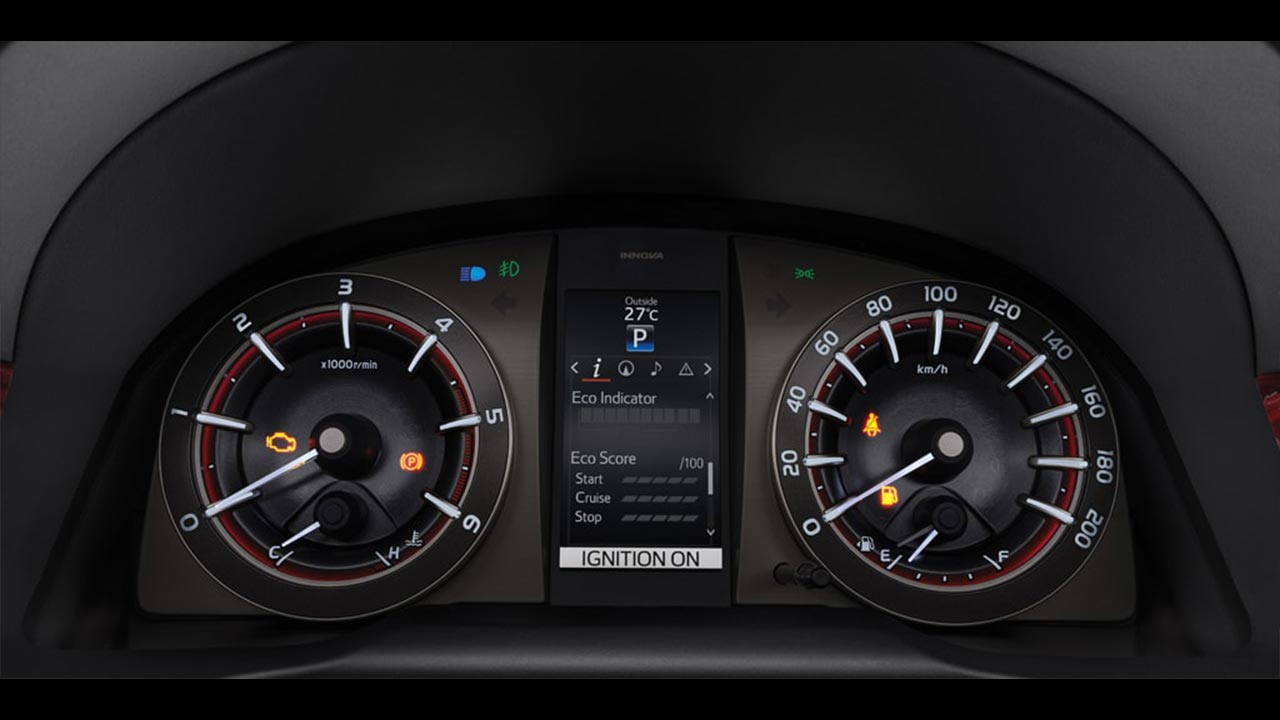 2017 Toyota Innova Touring Sport Combimeter With Tft Display Autobics