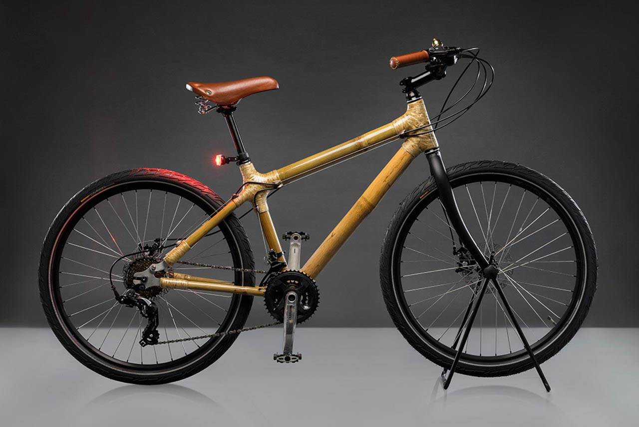 Godrey Bambusa Urban bike with bamboo frame