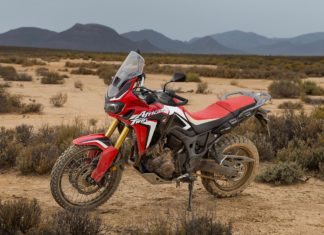 honda africa twin red front left view