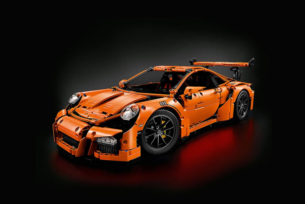 a lego technic porsche 911 gt3 rs was crash tested by adac autobics. Black Bedroom Furniture Sets. Home Design Ideas