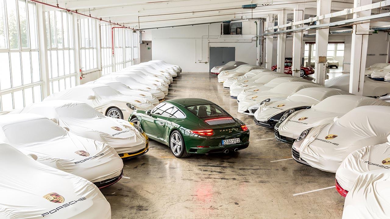 one millionth porsche 911 carrera s rear