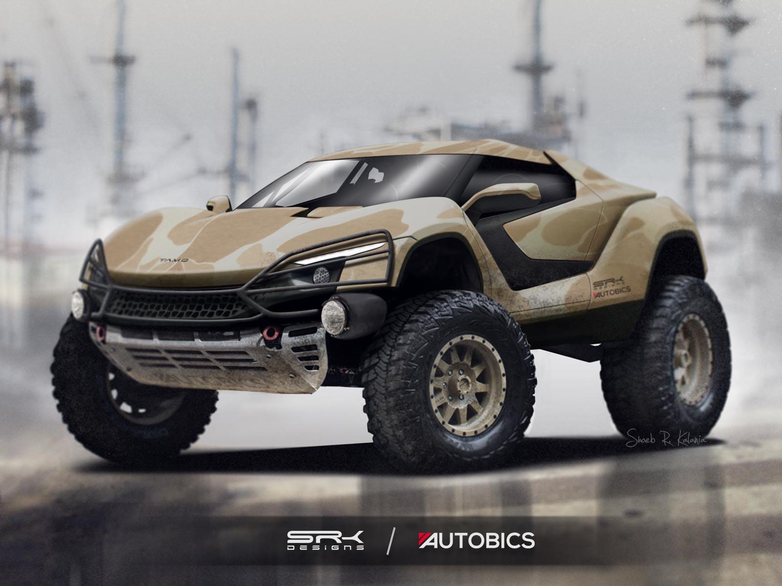 Tamo Racemo modified into an offroad machine