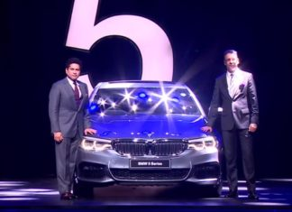2017 bmw 5 series launch in india by sachin tendulkar