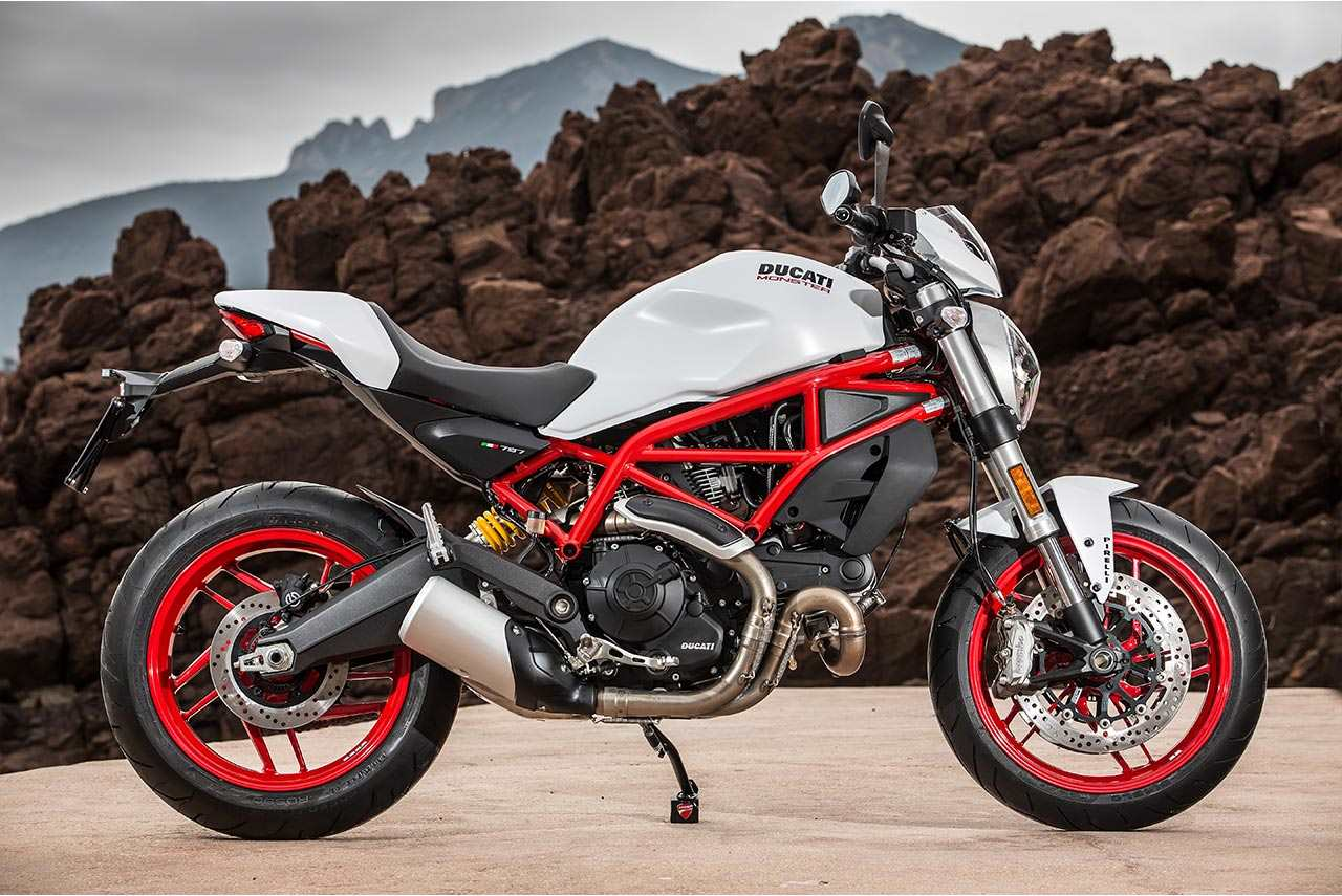 2017 ducati monster 797 plus star white silk - autobics