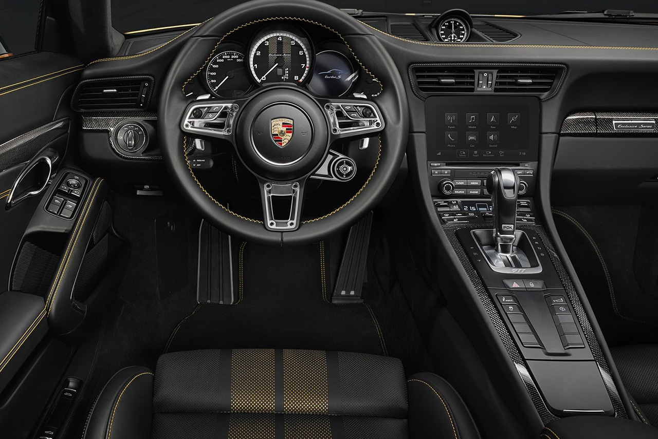 The new 2018 porsche 911 turbo s exclusive series with for Porsche 911 interieur