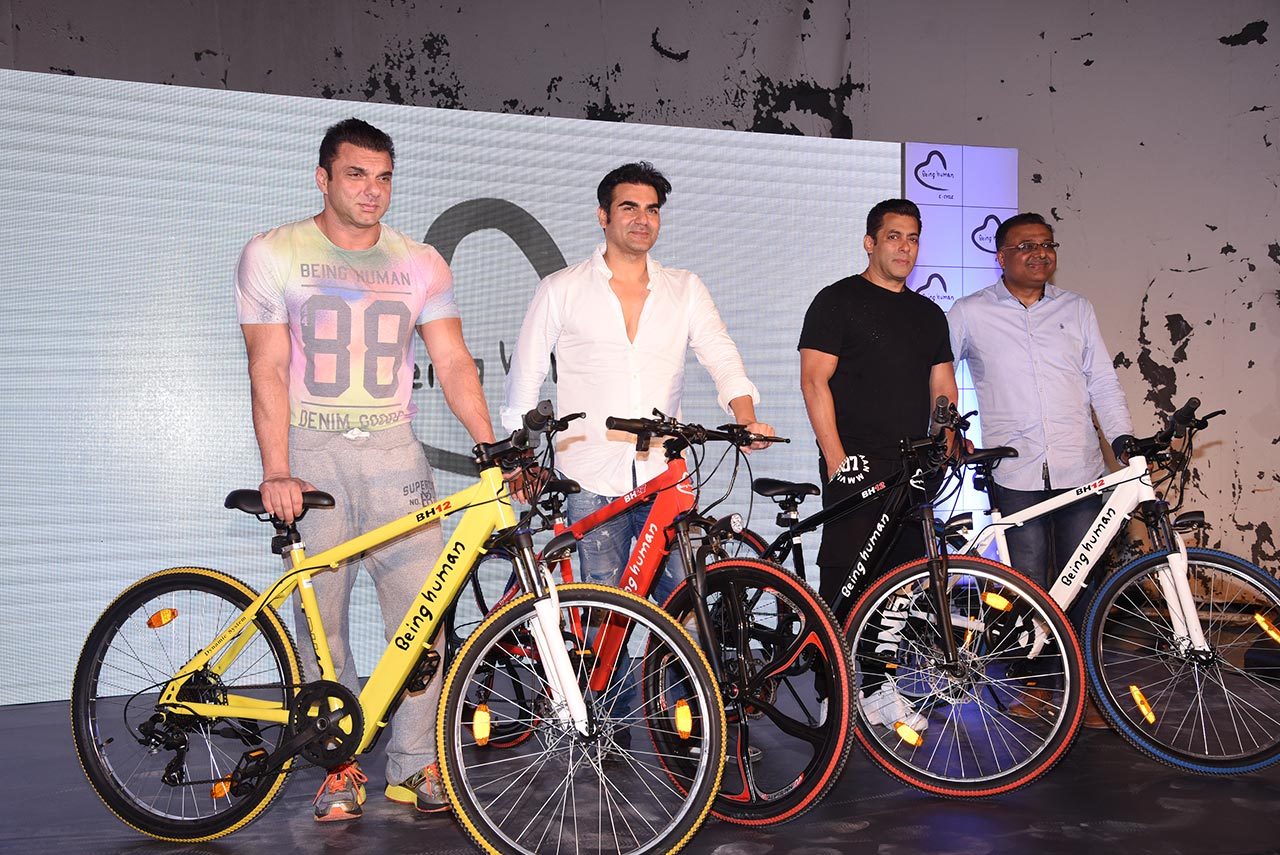 Being Human E-Cycle launched by Salman Khan on World ...