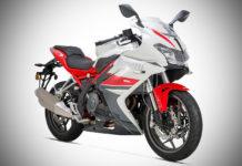 2017 dsk benelli 302r white rosso front quarter