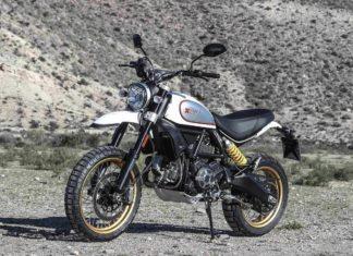2017 ducati scrambler desert sled White Mirage front left