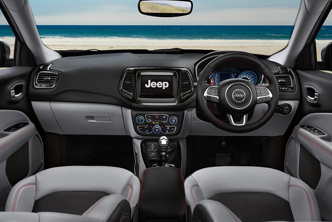 Jeep Cherokee Sport Interior >> Jeep Compass launched in India at INR 14.95 Lakh - AUTOBICS