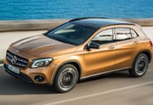 2017 mercedes benz gla rolling front