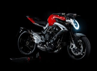 2017 mv agusta brutale 800 red matte silver front right quarter