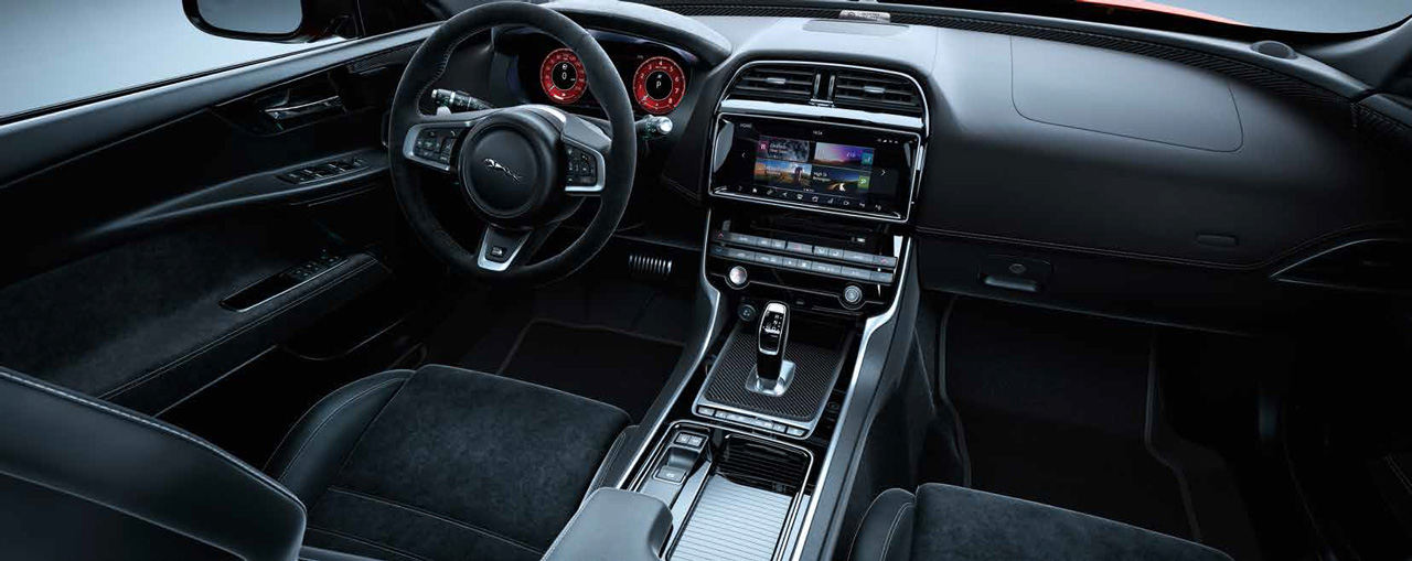 2018 jaguar xe interior. unique interior 2018 jaguar xe sv project 8 interior with