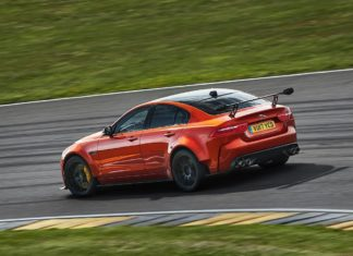 2018 jaguar xe sv project 8 rear left