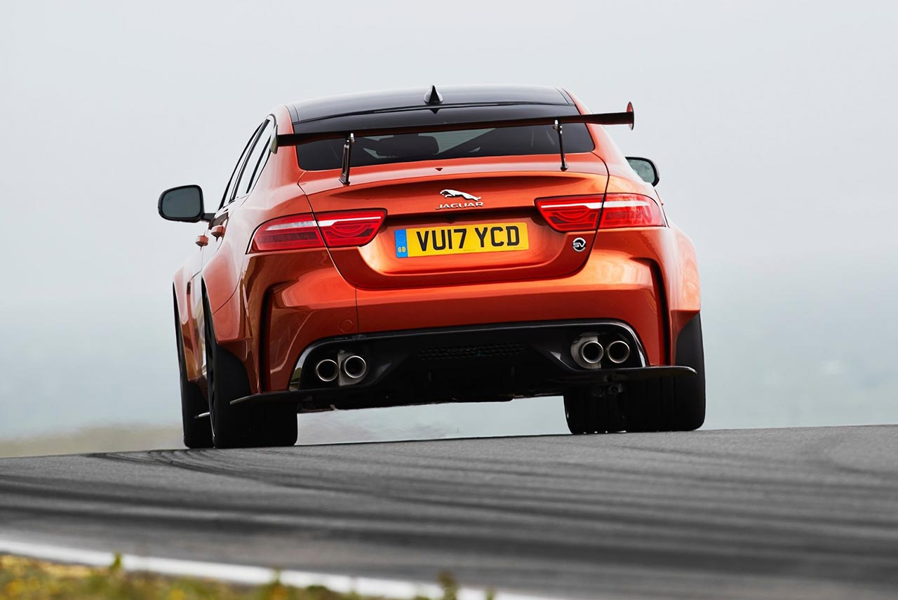 2018 jaguar xe sv project 8 rear autobics