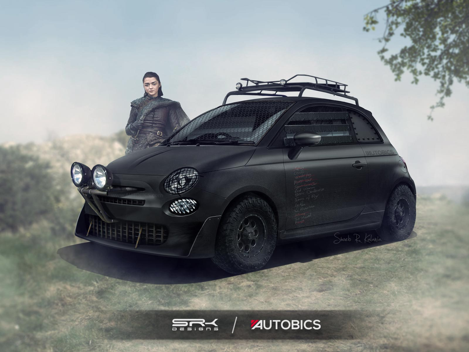 Arya Stark – Fiat 500 - Game of Thrones
