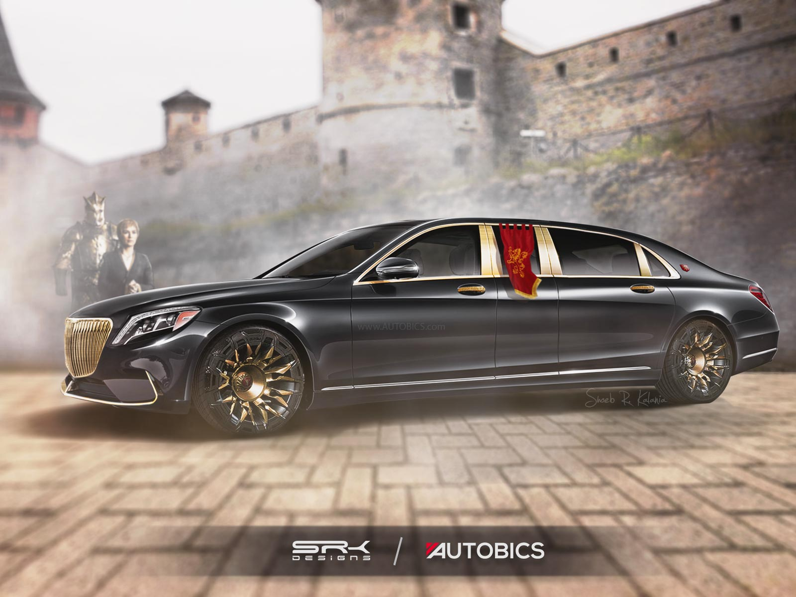 Cersei Lannister Mercedes Benz S600 Pullman Maybach