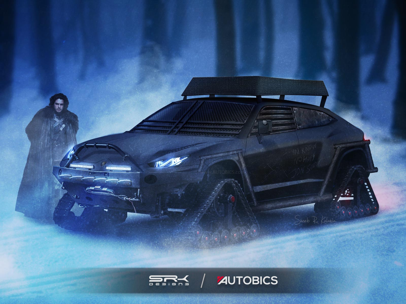 Jon Snow – Lamborghini Urus - Game of Thrones