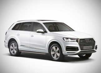 2017 audi q7 design edition front quarter studio