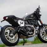 2017 ducati scrambler cafe racer rear quarter