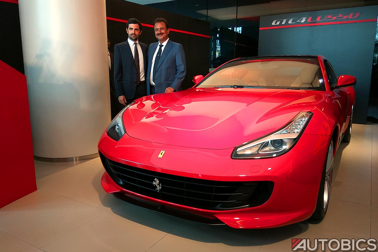 2017 ferrari gtc4lusso mumbai showroom launch